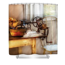 Chair - Kitchen Preparations  Shower Curtain by Mike Savad