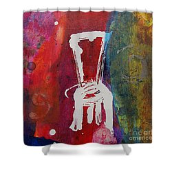 Shower Curtain featuring the painting Chair by Robin Maria Pedrero