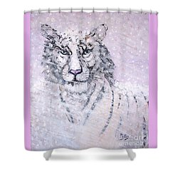 Shower Curtain featuring the painting Chairman Of The Board by Phyllis Kaltenbach