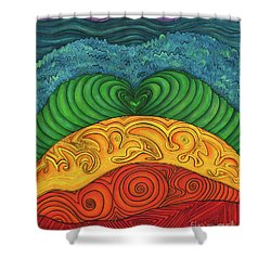 Chakra Ascension Shower Curtain by Deborha Kerr