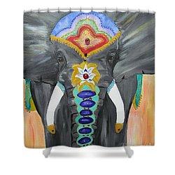 Chakra Elephant Shower Curtain