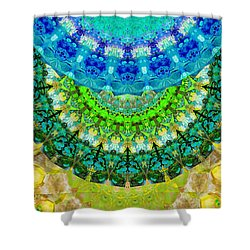 Chakra Mandala Healing Art By Sharon Cummings Shower Curtain by Sharon Cummings