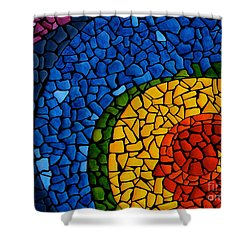 Chakra Swirl Shower Curtain by Deborha Kerr