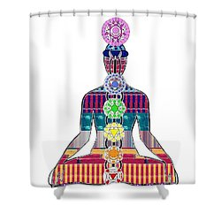 Chakra Yoga Mandala  Buy Faa Print Products Or Down Load For Self Printing Navin Joshi Rights Manage Shower Curtain