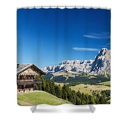 Chalet In South Tyrol Shower Curtain by Carsten Reisinger