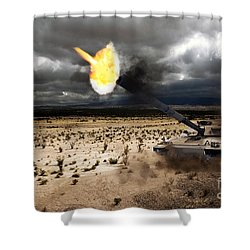 Challenger 1 Shower Curtain by J Biggadike