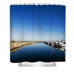 Shower Curtain featuring the photograph Challenger Harbour Of Fremantle by Yew Kwang