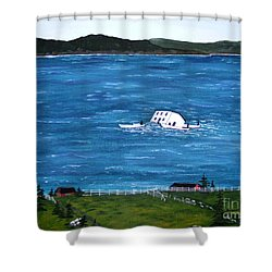 Challenges Shower Curtain by Barbara Griffin