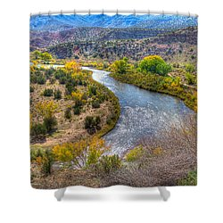 Chama River Overlook Shower Curtain