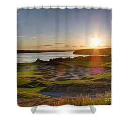 Chambers Bay Sun Flare - 2015 U.s. Open  Shower Curtain by Chris Anderson