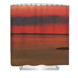 Chambers Island Sunset Shower Curtain