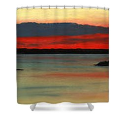 Chambers Island Sunset II Shower Curtain