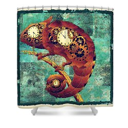 Chameleon - Aff01a Shower Curtain by Variance Collections