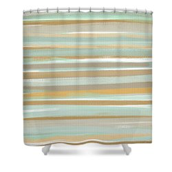Champagne And Gold Shower Curtain by Lourry Legarde