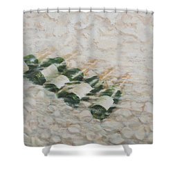 Champagne Cooling Shower Curtain by Lincoln Seligman