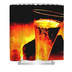 Champagne Wishes Shower Curtain by Jerome Stumphauzer