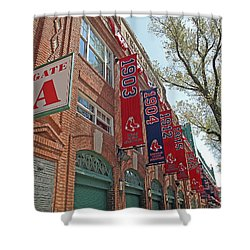 Championship Banners Shower Curtain by Barbara McDevitt