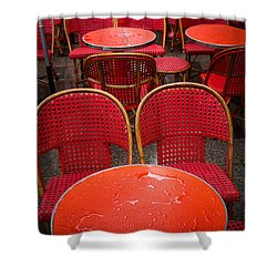 Champs Elysees Cafe Shower Curtain by Inge Johnsson