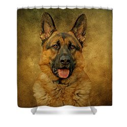 Chance - German Shepherd Shower Curtain