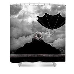 Chance Of Rain   Broken Umbrella Shower Curtain by Bob Orsillo