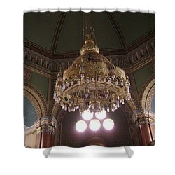 Chandelier Of Sofia Synagogue Shower Curtain