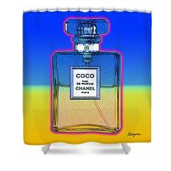 Chanel Bottle 1 Shower Curtain