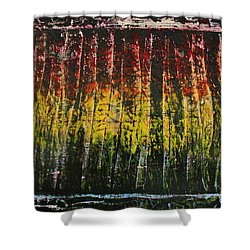 Shower Curtain featuring the painting Change Is Good by Michael Cross