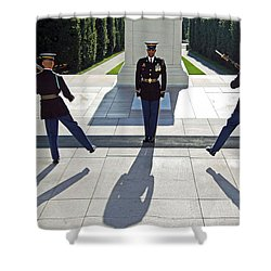 Shower Curtain featuring the photograph Changing Of The Guard by Cora Wandel