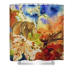Changing Of The Seasons Shower Curtain by Ellen Levinson