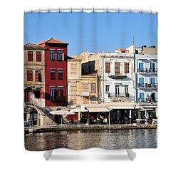 Chania City Shower Curtain by George Atsametakis