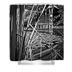 Channel Shower Curtain by Adria Trail