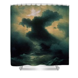 Chaos The Creation Shower Curtain by Ivan Konstantinovich Aivazovsky