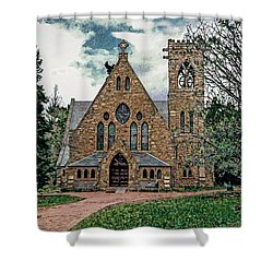 Chapel At University Of Virginia Shower Curtain