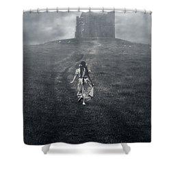 Chapel In Mist Shower Curtain by Joana Kruse