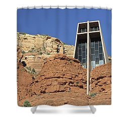 Shower Curtain featuring the photograph Chapel Of The Holy Cross by Penny Meyers