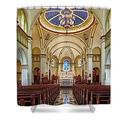 Shower Curtain featuring the photograph Chapel Of The Immaculate Conception by Jim Thompson