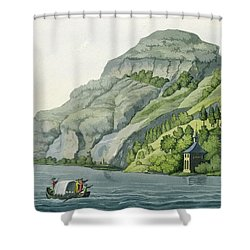Chapel Of William Tell, From Customs Shower Curtain by Vittorio Raineri