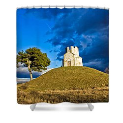 Chapel On Green Hill Nin Dalmatia Shower Curtain