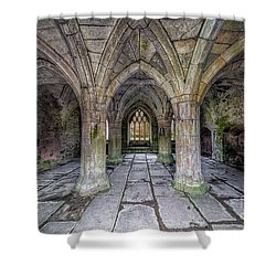 Chapter House Interior Shower Curtain by Adrian Evans
