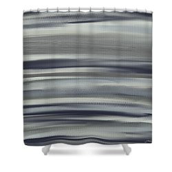 Charcoal And Blue Shower Curtain