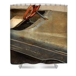Charger Pedal Car Shower Curtain by Michelle Calkins