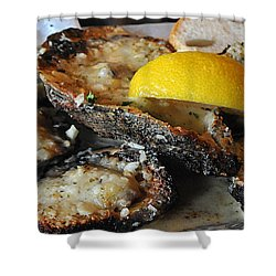 Chargrilled Oysters Shower Curtain
