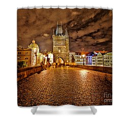 Charles Bridge At Night Shower Curtain