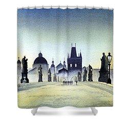 Charles Bridge Shower Curtain by Bill Holkham