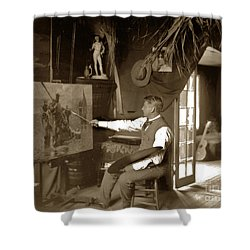 Charles Dickman Artist Monterey California Circa 1907 Shower Curtain by California Views Mr Pat Hathaway Archives