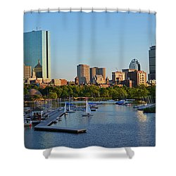 Charles River At Sunset Shower Curtain