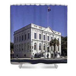 Charleston City Hall Shower Curtain by Lynn Palmer