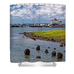 Shower Curtain featuring the photograph Charleston Harbor by Sennie Pierson