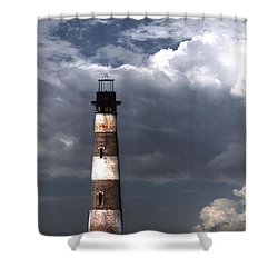 Charleston Lights Shower Curtain by Skip Willits