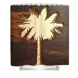 Charleston Palmetto Shower Curtain by M West